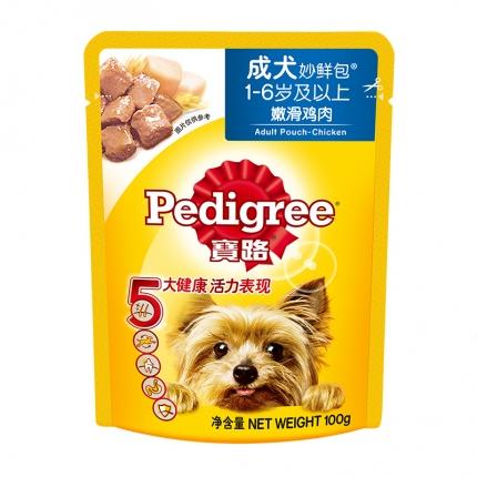 宝路 成犬鸡肉味妙鲜包100g 狗湿粮