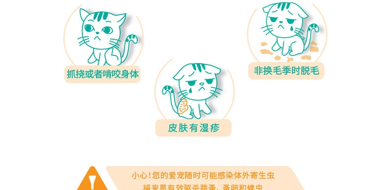 福来恩  猫用增效灭虱滴剂加强版0.5ml 单支装无说明书 驱杀跳蚤蜱虫虫卵幼虫