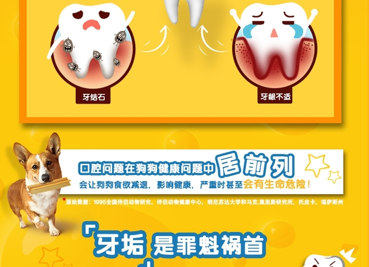 宝路 中小型犬成犬洁齿棒75g 有效减少牙斑牙垢 狗零食