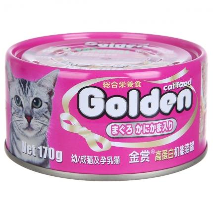 金赏Golden 金枪鱼+蟹肉味猫罐头170g 猫湿粮