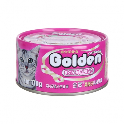金賞Golden 金槍魚蟹肉味貓罐頭 170g