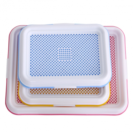 怡亲多可特 平板网络式 狗厕所便盆 贵宾泰迪狗厕所 带垫板(带立柱)