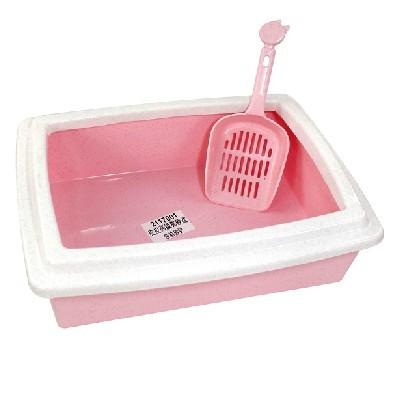 怡亲多可特 半封闭式经济型猫砂盆 送猫砂铲 猫厕所猫便盆