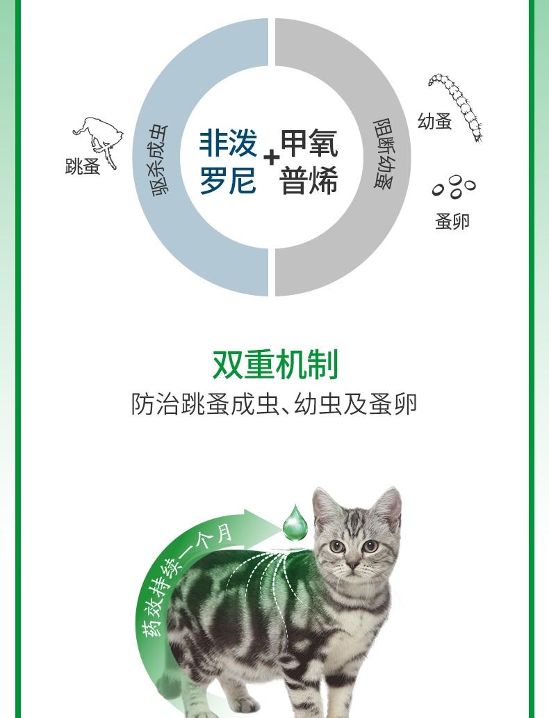 福来恩 猫用增效灭虱滴剂体外驱虫整盒装3支装 猫体外驱虫