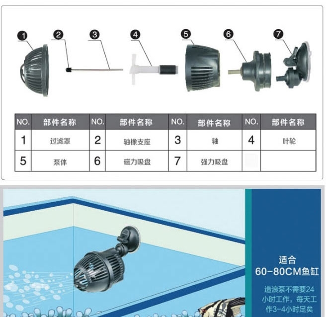 【清仓】森森JVP冲浪泵鱼缸必威官网西汉姆联箱造浪泵单双头打浪泵静音吸盘造流泵