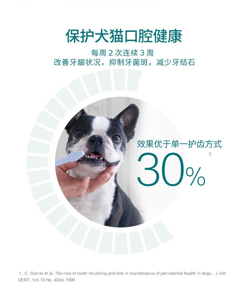 法国维克Virbac 猫狗复合酶牙膏套装牙刷牙膏 70g 去牙菌斑清新口气