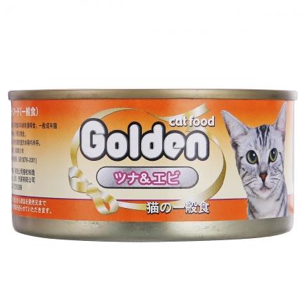 金赏Golden 金枪鱼+虾仁味猫罐头170g 猫湿粮