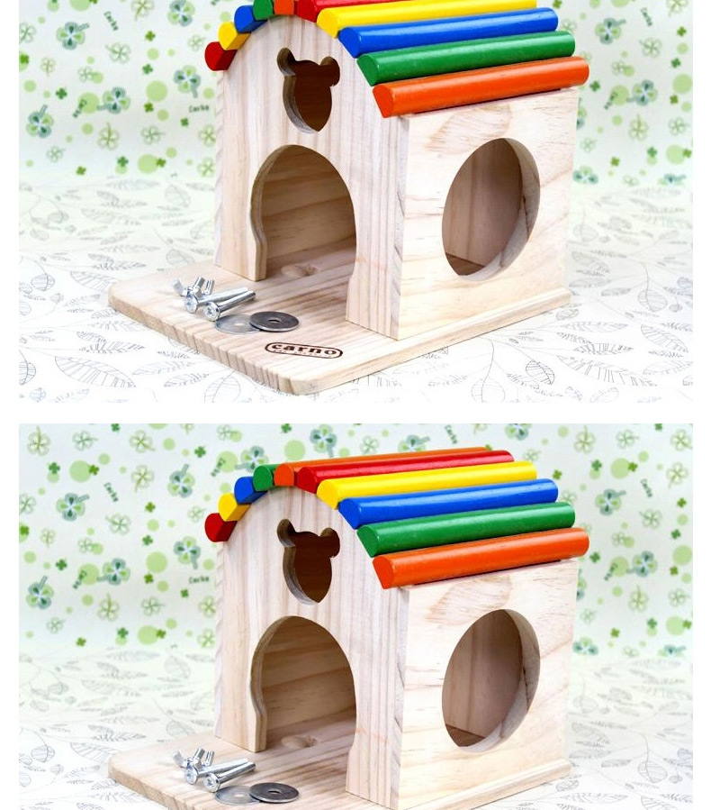 卡诺木质龙猫玩具用品跳板/窝/木屋/吊链/多款可选