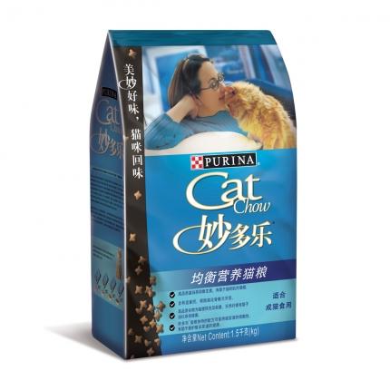 妙多乐CatChow 成猫粮均衡营养猫粮1.5kg