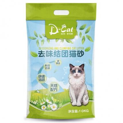 怡亲多可特 膨润土去味结团猫砂10kg (新老包装随机发货)
