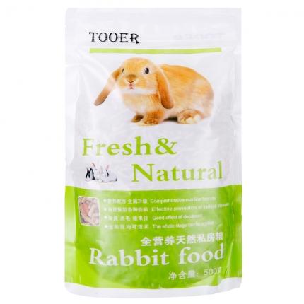 优质除臭兔粮 抗球虫成分含胡萝卜兔粮500g