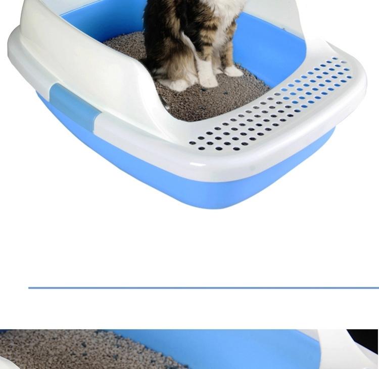 心宠 半封闭式豪华猫砂盆 猫厕所猫便盆