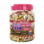 日本它它 杂锦罐装狗狗防口臭饼干1kg
