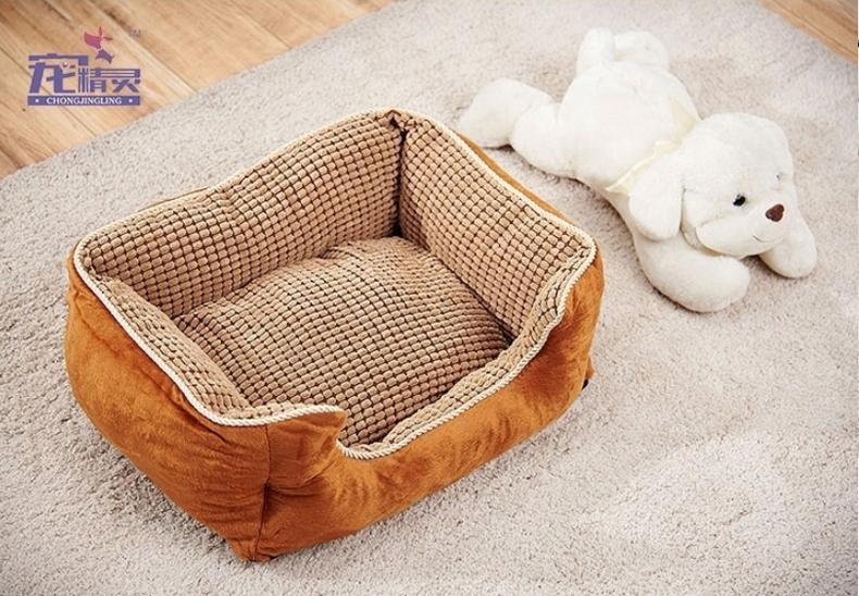 宠精灵 玉米粒宠物狗狗窝  全套可拆洗 更暖更厚实