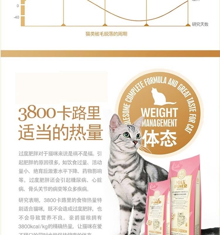 豪爵 全期猫粮超级挑嘴海鲜鸡肉猫粮11kg