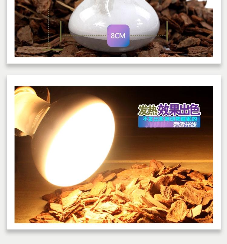爬虫陆龟箱加热灯蜥蜴守宫取暖灯NJ-01 50W