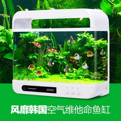 子白非鱼 生态迷你创意玻璃水族箱鱼缸 38.5cm长