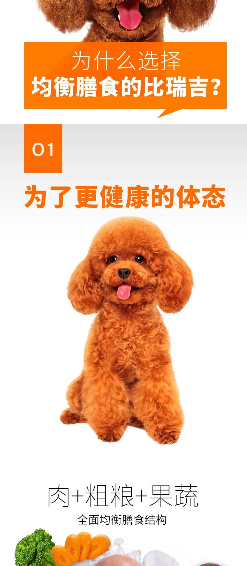 比瑞吉 金毛及大型犬成犬粮天然狗粮12kg