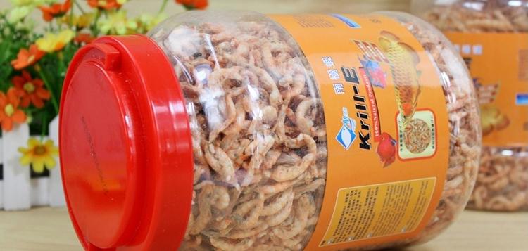 水亿方南极磷虾干无尖刺龙鱼罗汉鹦鹉虾干饲料鱼食