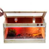 诺摩陆龟活体保温饲养箱宠物杉木斜面箱