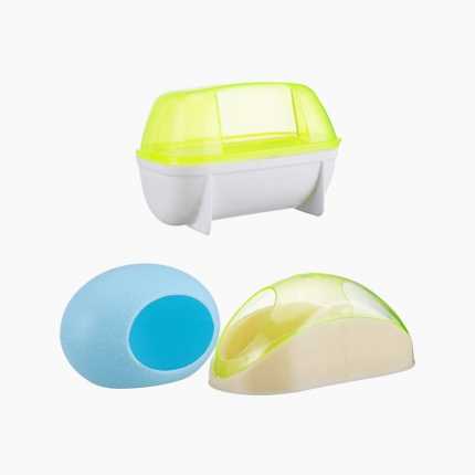 宠波尔 仓鼠浴室睡屋浴沙房厕所桑拿房 厕所容器