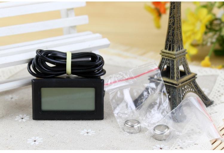 Reptile Structure 爬虫数字带线防水探头电子温度计 监测陆龟水族箱水温