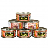 爱喜雅 黑罐咻咻金枪鱼加鸡胸肉猫罐头80g*6罐 猫湿粮