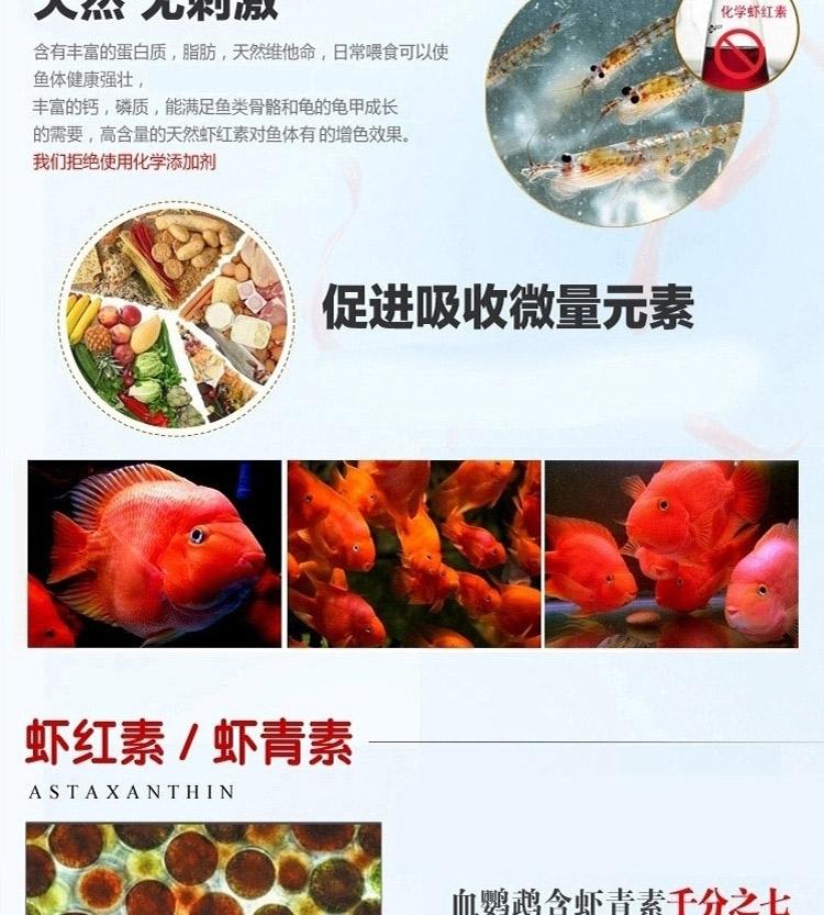 锦跃 鹦鹉鱼饲料鱼食血鹦鹉增红鱼饲料增色鱼食鱼饲料鹦鹉鱼食