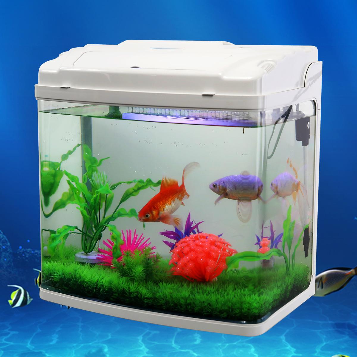 聚宝源鱼缸水族箱 中型生态金鱼缸高清浮法玻璃鱼