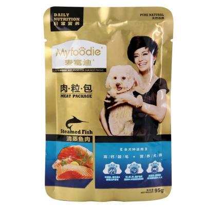 麦富迪 狗用清蒸鱼肉粒包95g 狗湿粮 小图 (0)