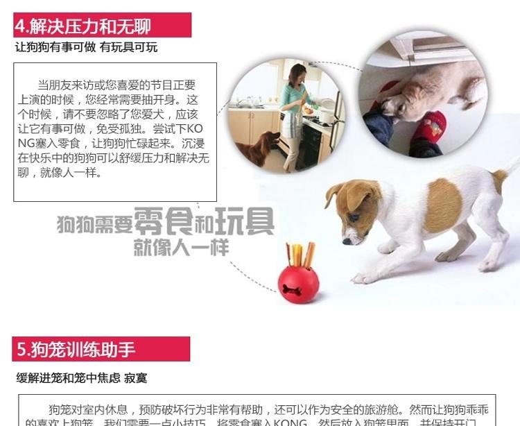 美国KONG 天然橡胶耐咬漏食葫芦 多款可选 狗玩具