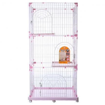 爱丽思豪华猫笼子 双层三层别墅猫窝 小图 (0)