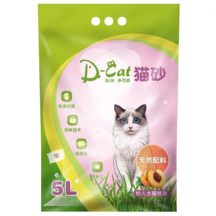 怡亲多可特 水蜜桃香型膨润土猫砂(5L)4kg