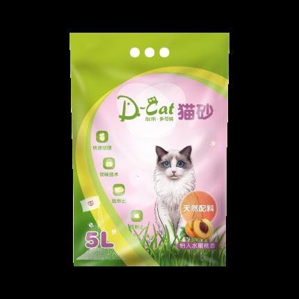 怡亲多可特 水蜜桃香型膨润土猫砂(5L)4kg (新老包装随机发货)