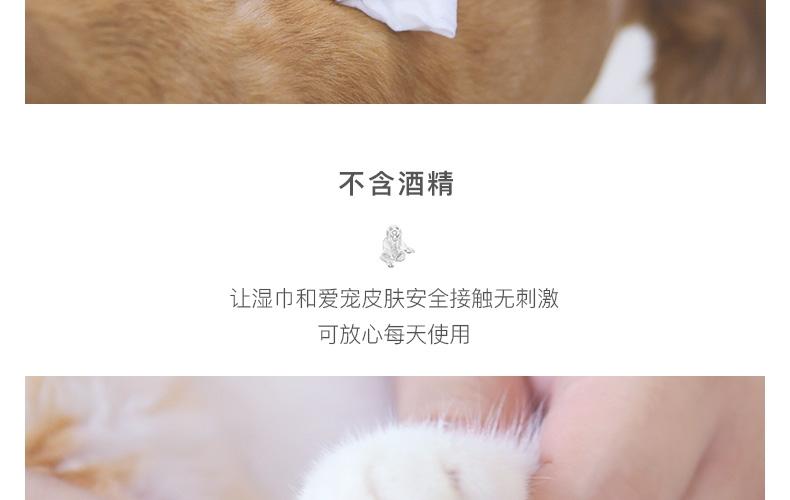 怡亲多可特 宠物湿巾100片