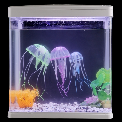 软体荧光水母 聚宝源鱼缸造景 创意漂浮式水母珊瑚DIY吸盘 小图 (0)
