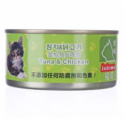 珍味 金枪鱼+鸡肉猫罐170g 猫湿粮