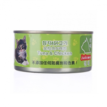 珍味 金枪鱼鸡肉猫罐头湿粮 170g