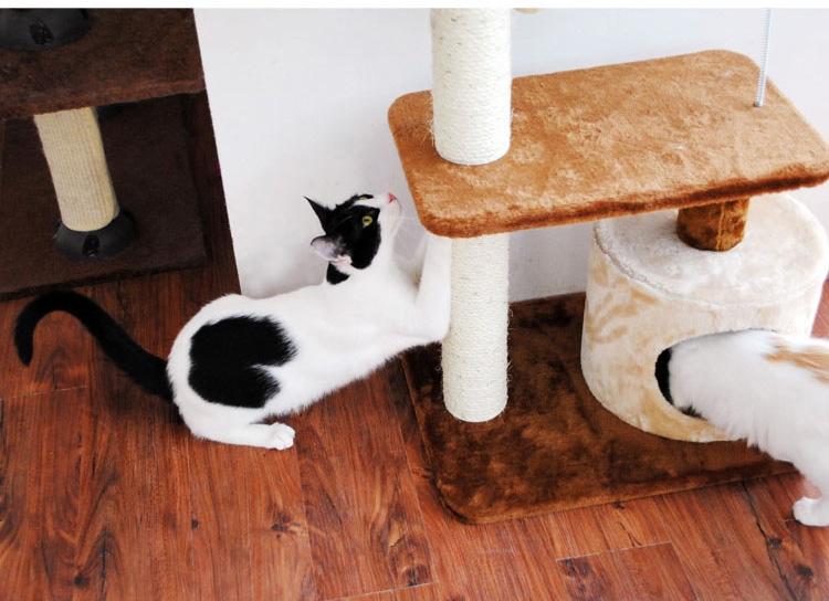 田田猫 猫爬架TTMWJ-015米黄色 咖色 天然剑麻磨爪玩耍猫玩具