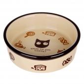 田田猫圆形卡通猫碗