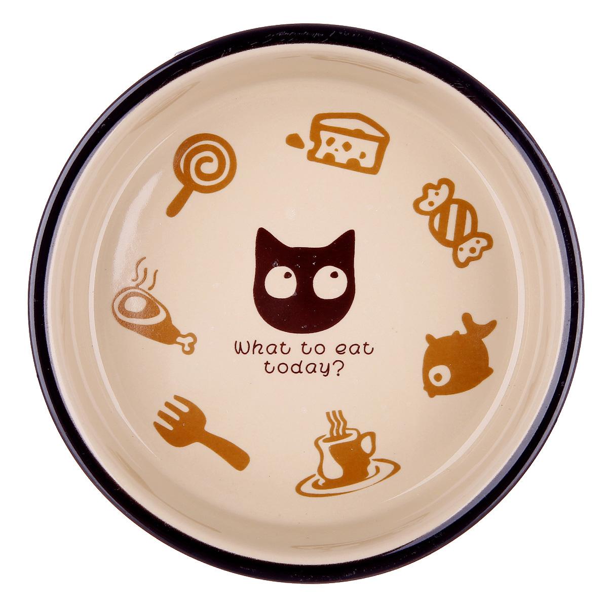 田田猫猫爬架圆形卡通猫碗图片
