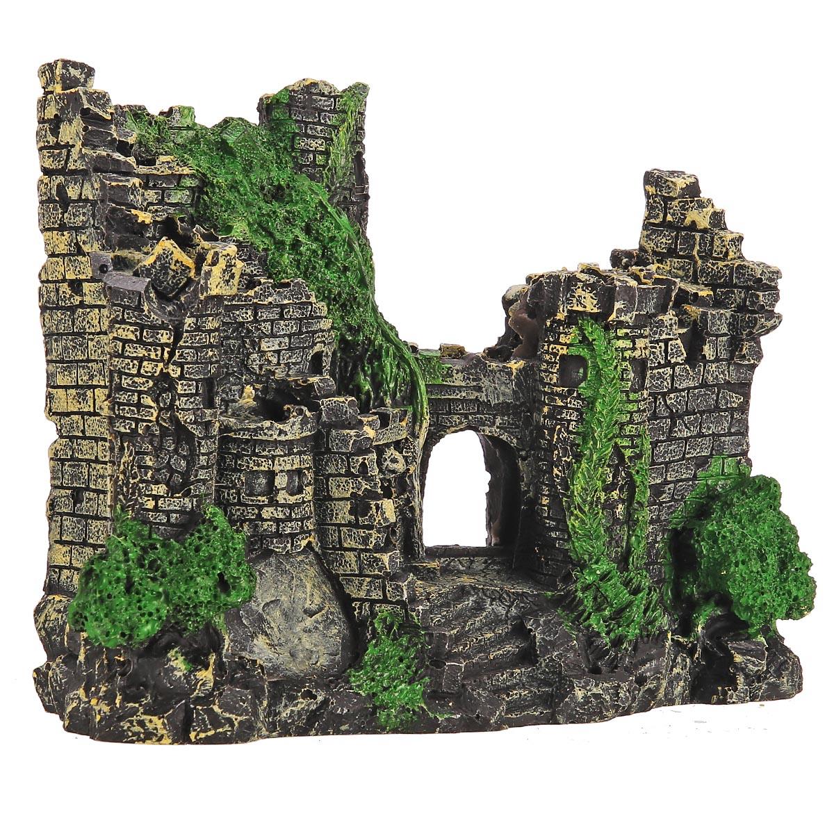 聚宝源 水族造景城堡鱼缸装饰欧式城堡树脂古城堡假山