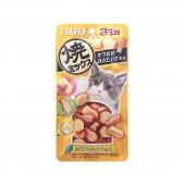 伊纳宝 猫用鲣鱼节味、扇贝味、鱿鱼味肉粒25g 猫零食