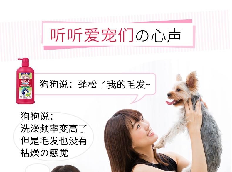 艾宠Lion  犬用每日洗二合一香波 柔和花香型 550ml