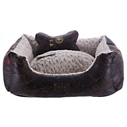 爱宝嘉复古黑玫瑰绒宠物窝 送配套靠枕 全可拆洗 小图 (0)