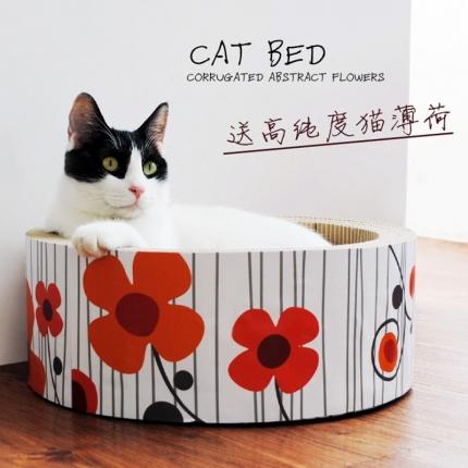田田猫 蛋糕造型瓦楞纸猫抓板猫窝 小图 (0)