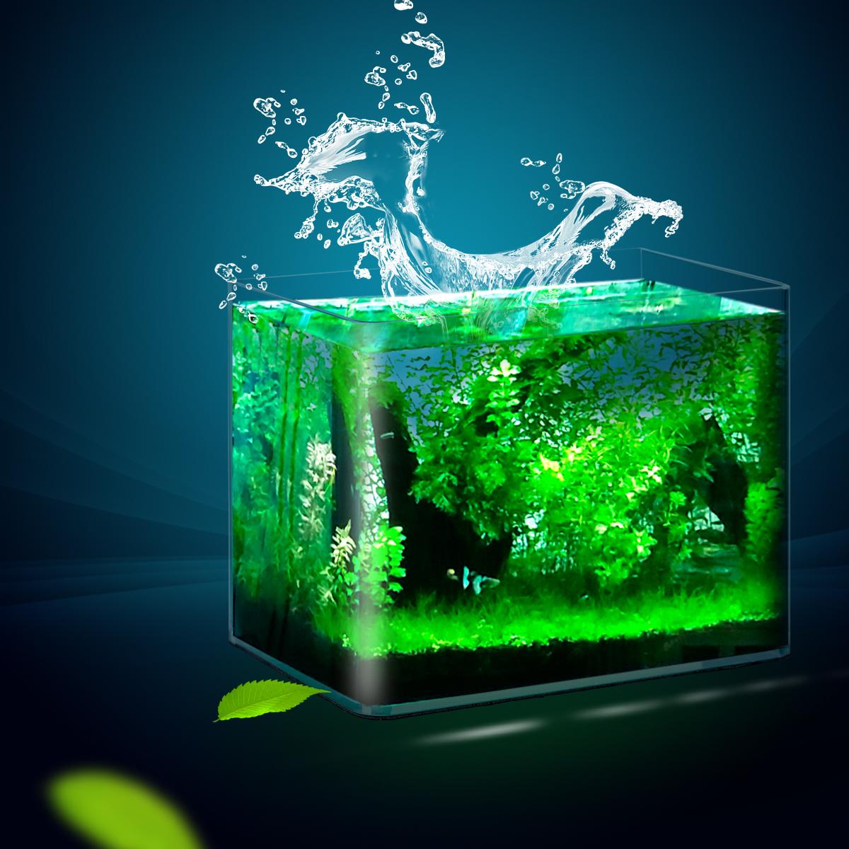 聚宝源 热弯鱼缸透明玻璃多款创意缸乌龟缸生态造景办公桌水族箱图片