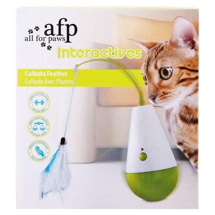 AFP 互动玩具系列猫咪羽毛不倒翁 逗猫玩具 小图 (0)