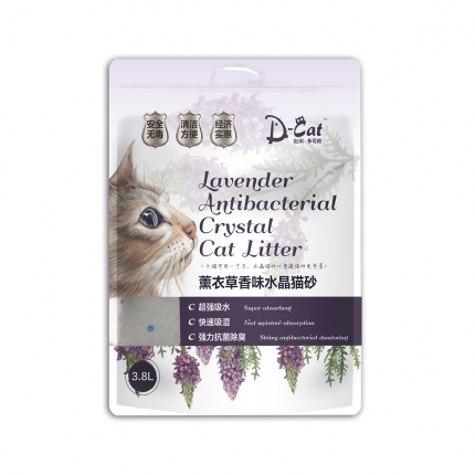怡亲多可特 薰衣草香味水晶猫砂3.8L 1.4kg