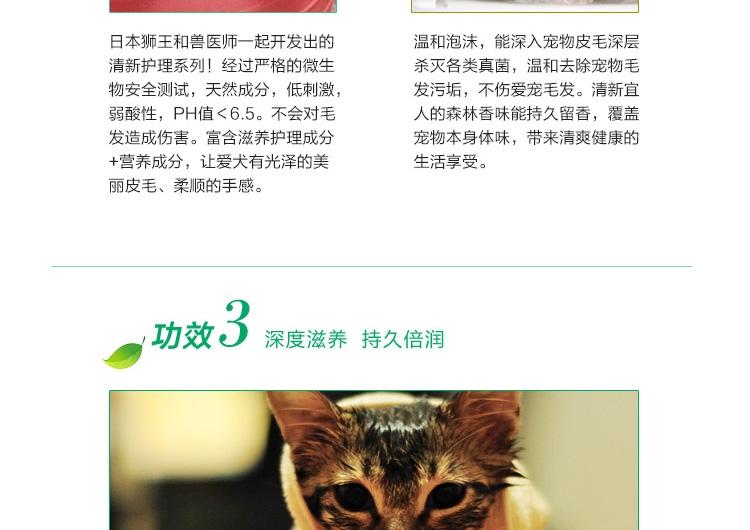 LION Q&R系列2合1香波猫用无香型200ML